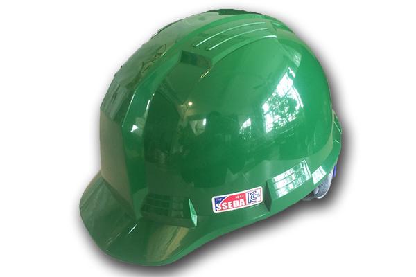 Mũ an toàn SSEDA IV Hàn Quốc có mặt phẳng màu xanh lá cây