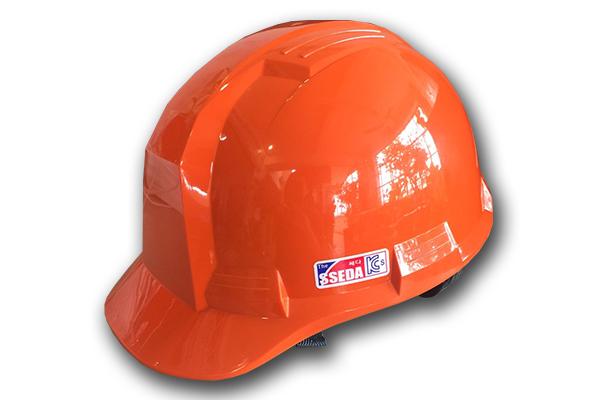 Mũ an toàn SSEDA IV Hàn Quốc có mặt phẳng màu cam