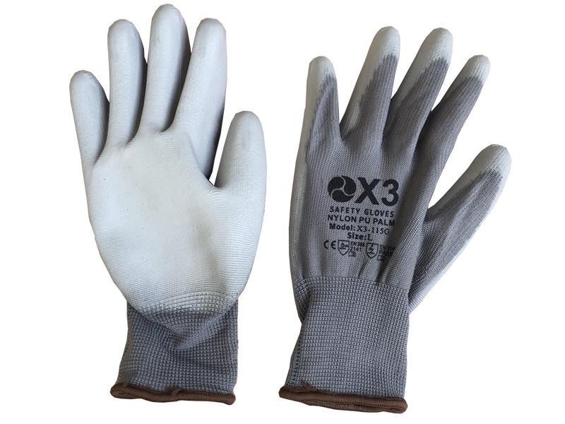 Găng tay chống tĩnh điện phủ bàn màu xám X3-115G
